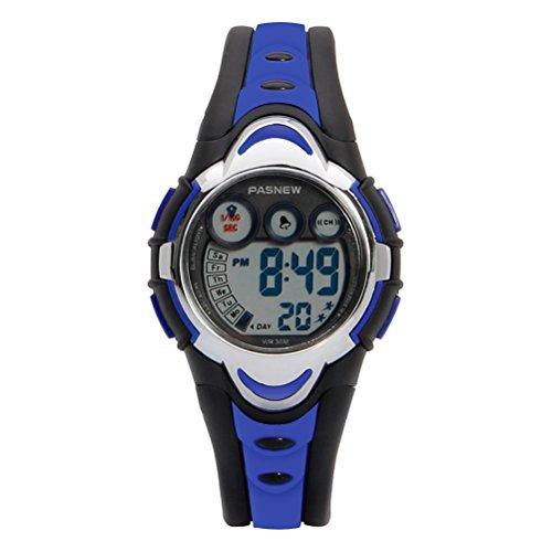 Hiwatch Relojes Deportivos Impermeable para los Niños/Niñas Reloj de Pulsera Digital a Prueba de Agua Infantiles Azul