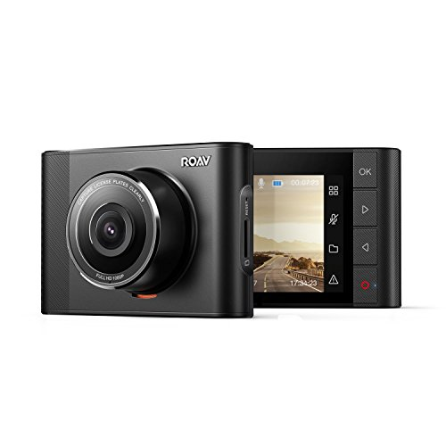 ROAV By Anker DashCam A0 170 Wide-Angle f/1.4 Aperture Lens, 1080P Recording, WiFi, Parking Monitor, G-Sensor and Built-in Microphone