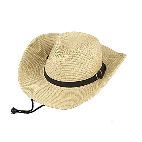 Futurekart Fashion Mens Straw Cowboy Sun Hat Cap Costume Gift - Beige