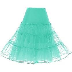 Dresstells Mujeres Cancan 50s Retro Rockabilly Enaguas Miriñaques Faldas Mint S