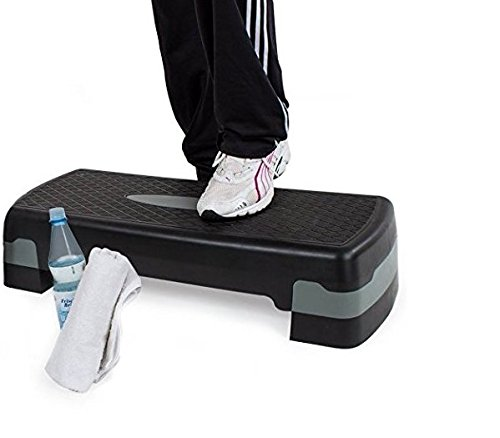 AURIONAdjustable Aerobic Stepper Platform Exercise/Workout Step with Risers (ASSORTED COLORS)