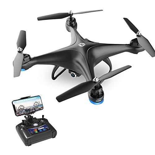 Holy Stone HS110D Drone con Telecamera FPV 1080P RC HD Video dal Vivo con Grandangolare da 120° WiFi Quadricottero con Mantenimento dell'Altitudine e modalità Senza Testa Giri 3D RTF
