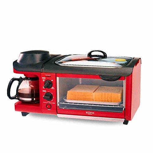 3-in-1 colazione macchina 600w caffettiera + 700w teppanyaki + 900w forno pane creatore tostapane /...