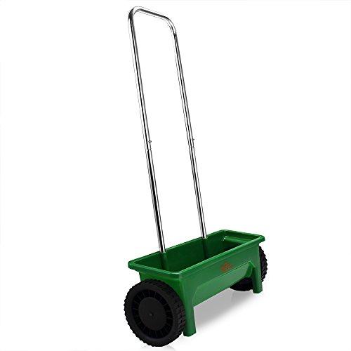 Streuwagen | 12L | 50cm Streubreite | praktische Abstellfüße | Saatgutstreuer Düngerstreuer für Salz Dünger Rasen Split