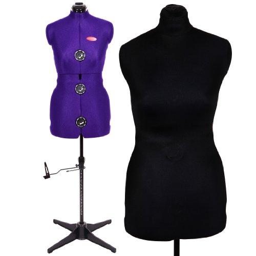 Damen Schneiderpuppe Verstellbare Schneiderpuppe Prymadonna Größe M inklusive Schutzbezug in schwarz