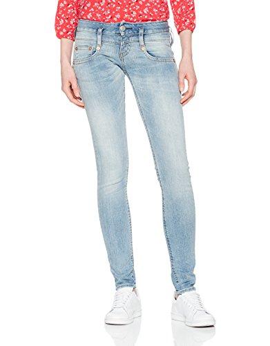 Herrlicher Damen Jeans Pitch Slim, Blau (Cloudy 029), W29/L30