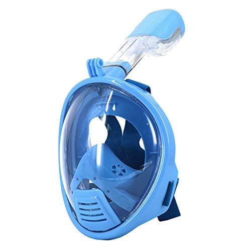 Supstar Maschera Subacquea Maschera da Snorkel Immersioni/Nuoto 180 °Vista Panoramica Pieno Facciale di Respirazione Bambini Anti-Nebbia e Anti-Perdita Fotocamera Compatibile-XS/Blu