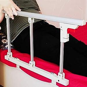 Barandilla de la cama Protector Lateral De Seguridad De Riel De Cama Plegable For Adultos Mayores, Adultos Asistente De Manija Barrera De Cama Barandilla De Metal For Hospital Hospital (Tamaño: 70x40