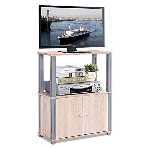 COSTWAY Mobile Porta TV Mobiletto da TV Supporto TV per Soggiorno Camera da Letto, 60 x 29,5 x 80 cm...