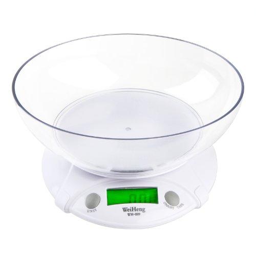 KKmoon Báscula Electrónica de Cocina con Tazón 7 Killogram 1 Gram