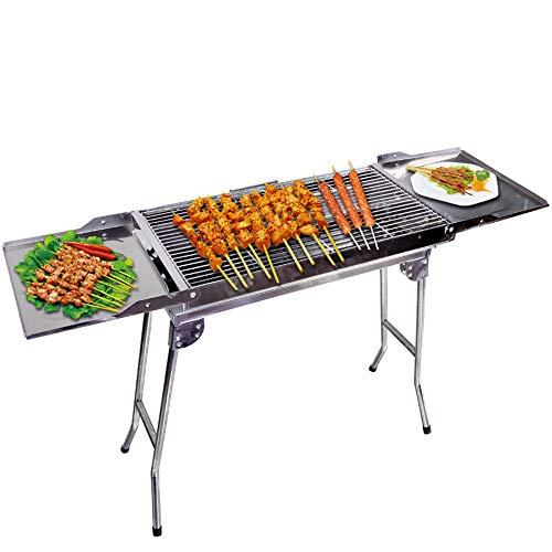 Barbecue portatile in acciaio inox leggero leggero semplice ideale barbecue pieghevole pieghevole...