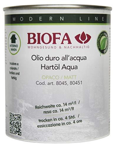 BIOFA 8045 OPACO 5164 TEAK 0,75 l- Olio a base acqua per mobili e parquet