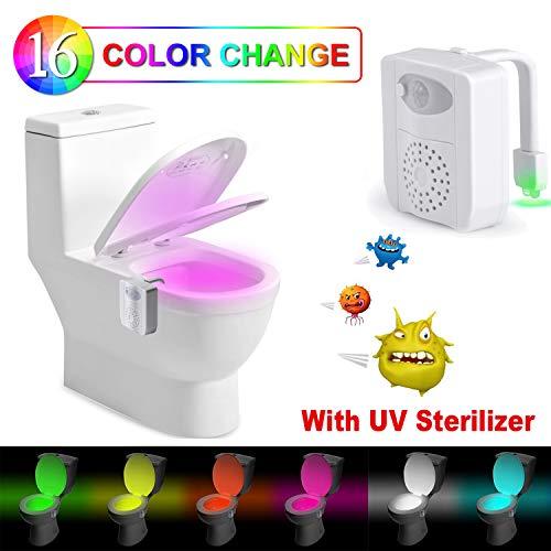 Luce WC Lampada WC Notturna -Rantizon LED Lampada Notturne de WC con Luce di Disinfezione a Raggi UV...