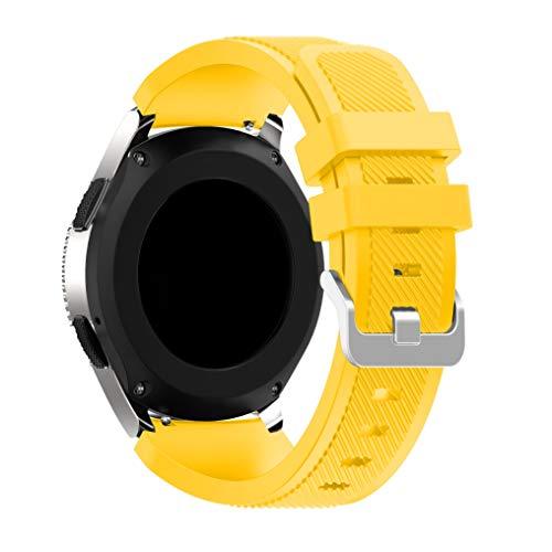 Yayuu Gear S3 Frontier/Classic/Samsung Galaxy Watch 46mm Cinturino, Braccialetto di Ricambio Silicone Sportivo Cinturino per Samsung Gear S3/Garmin Vivomove/Moto 360 2nd Gen 46mm Smart Watch(Giallo)