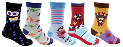 RC. ROYAL CLASS Full Length soft cotton Multicolored socks for kids Boys & Girls (pack of 5 pairs) (7-8 Years)