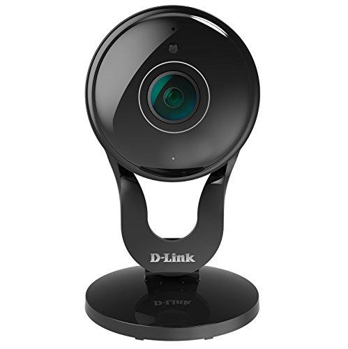 D-Link DCS-2530L Videocamera di Sorveglianza Full HD, Wireless AC, Visione Panoramica 180 Gradi, Slot per MicroSD, Nero/Antracite
