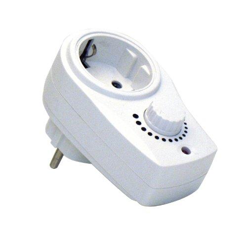 Dispositivo dimmer con presa di corrente per regolare l'intensità di luce di lampade da tavolo o terra da 230V , regolazione luce in base alle proprie esigenze. Regolazione potenza per passare da luce di lettura a luce più intensa o viceversa...