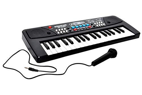 World of Needs® 37 Key Piano Keyboard Toy for Kids with USB Cable DC Power Option and Recording Function with Mic- 2019 Latest Model