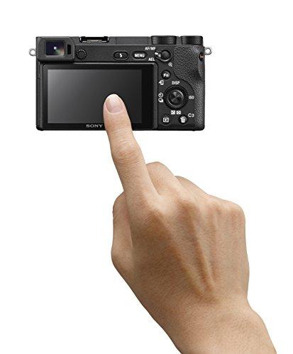 Sony Alpha ILCE6500B - Cámara (24.2 MP, 11fps, 5 ejes, AF de 0.05 s, con montura E, 425 puntos de enfoque, pantalla táctil), color negro