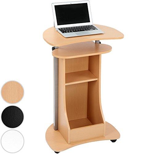Miadomodo Computerschreibtisch Computertisch Arbeitstisch Laptoptisch für das Home Office- (L/BH): ca. 56/41/93-112 cm- in drei verschiedene Farben