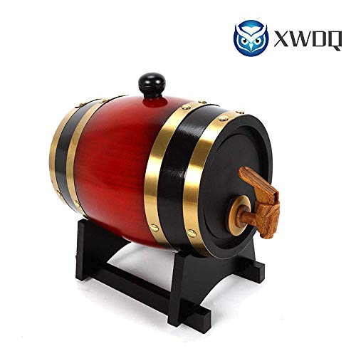 XWDQ Botte di Vino 5L Legno Botti di Rovere in Legno per Birra Whisky Rum Bucket Brewage Hotel...