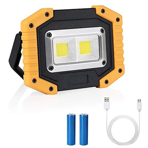 flintronic LED Portatile,20W&1500LM LED Ricaricabile con Batteria Ricaricabile Integrata 2X COB...