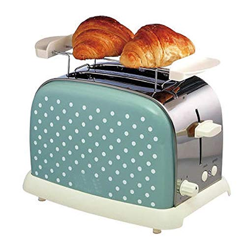 Toaster 2 Slice, Quick Toaster Con Slot Extra-Large, Tostapane in Acciaio Inox Con 6 Impostazioni Di...