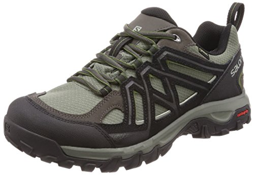 Salomon Evasion 2 GTX, Scarpe da hiking Uomo, Grigio (Castor Gray/Black/Chive), 41 1/3 EU