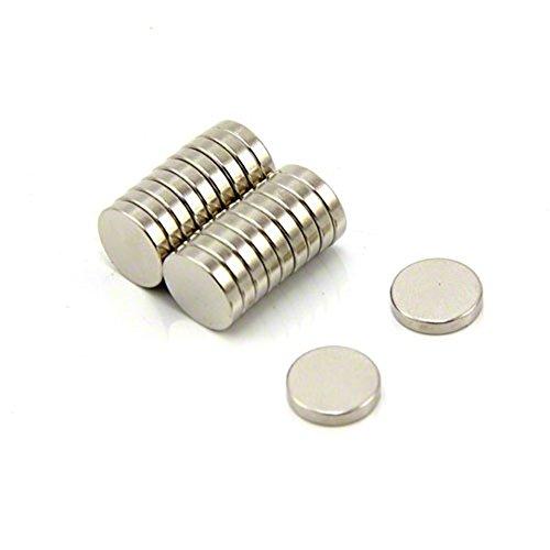 magnetastico | 20pezzi Magnete Neodimio N52parabrezza 10X 2mm | Magnete frigo bacheca...