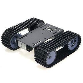 Festnight Robot rastreado Smart Car Platform Robotics Kits Robot Tank Crawler Chasis DIY Kit Solid Robotic Platform Tank Plataforma móvil Robotic Toy Platform para