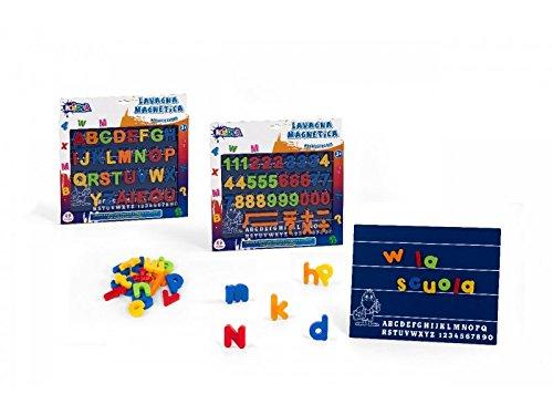 Globo Toys Globo - 30434 3 Assorted Kidea Lavagna Magnetica con Lettere e Numeri