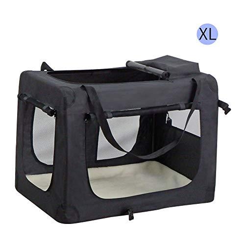 Wellhome Bolsa de Transporte Perro Transportín para Perros Gatos Capazo Portador Tela Mascotas Portátil Plegable XL: 82x58x58cm Negro