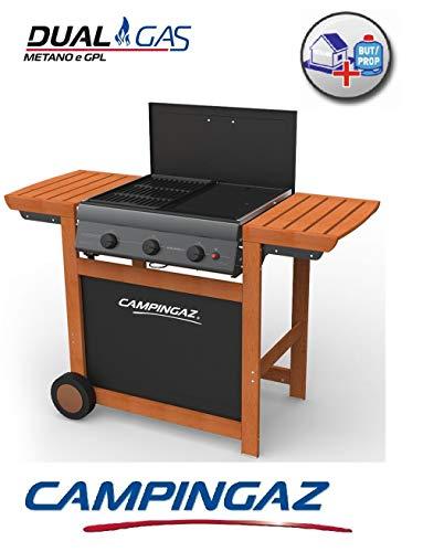 Campingaz Barbecue A Gas Adelaide Woody 3 Dual Gas (GPL Oppure METANO) con OMOLOGAZIONE A Norma di...