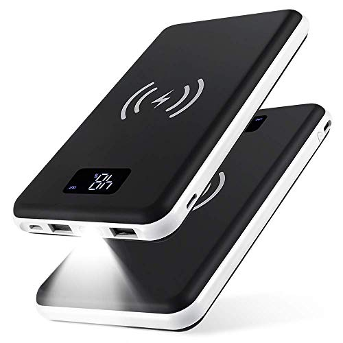 KEDRON Power Bank 20000mAh Caricabatterie Portatile Caricatore Wireless con Display LCD Digitale e 3...