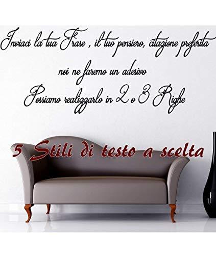Adesivo Murale Frase Personalizzabile Wall Stickers Sticker Adesivi Murali Frase Personalizzata Camera Sala ambiente moderno e Classico StickerDesign