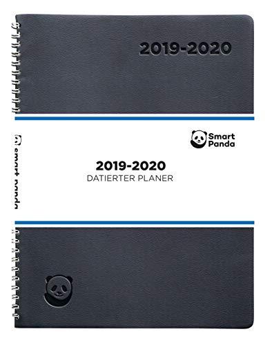 Terminplaner 2019 2020 von SmartPanda - Wochenplaner A4 - Softcover Tagebuch, 30 Minuten-Intervalle - Juli 2019 - August 2020 - auf Deutsch