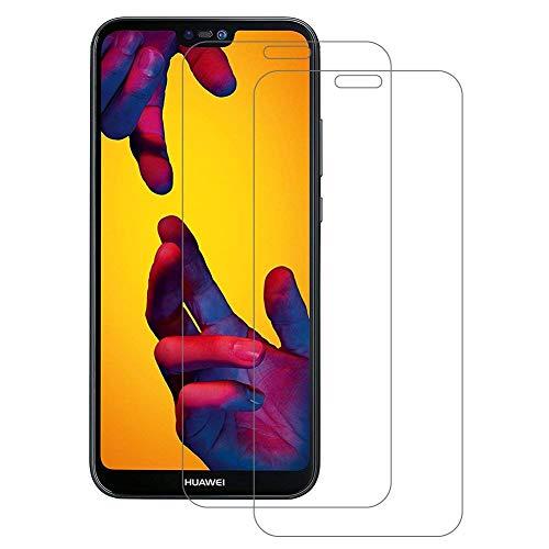 POOPHUNS 2 Pezzi Huawei P20 Lite Pellicola Protettiva Vetro Temperato, P20 Lite Protezione Schermo Trasparente Ultra Resistente, Anti-Graffi, Anti-Impronte