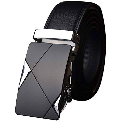Satyam Kraft PU Leather(Pack of 1) Adjustable Buckle Belts Fashion Waist Strap BELTS For Casual and Formal - Belt For Men and Boys, color Design For Daily Use (Triangle Design) /valentine gift for boyfriend love