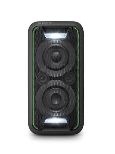 Sony GTKXB5B.CEL - Sistema de audio (extra bass, Bluetooth, NFC, Party Chain, configuración vertical y horizontal con luces), negro