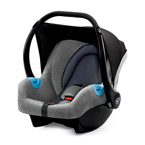 Kinderkraft Babyschale Mink Babyschale Kindersitz Autositz Kinderautositz 0-13kg Gruppe 0+ von Geburt an ECE R44/04 geprüf Grau