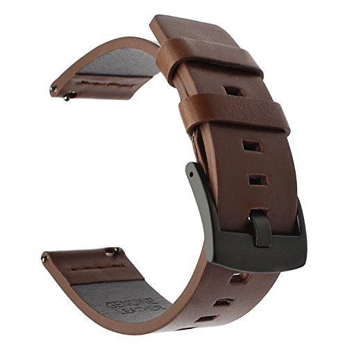 TRUMiRR per Withings Steel HR 36mm Cinturino per Orologio, 18mm Vintage Cinturino in Vera Pelle Cinturino per Huawei Watch 1st / Fit, ASUS Zenwatch 2 Donna 1.45 '', Fossil Gen 4 Q Venture HR