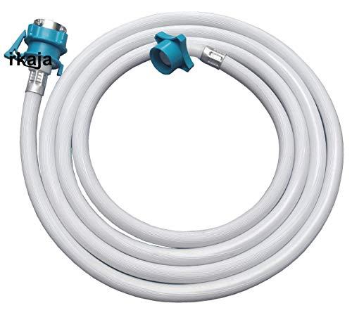 Irkaja 3 Meter Front & Top Load Washing Machine Flexible Water Inlet/Inflow Hose Pipe/Tube with Lock Type Tap Adapter/Connector (3 Meter)