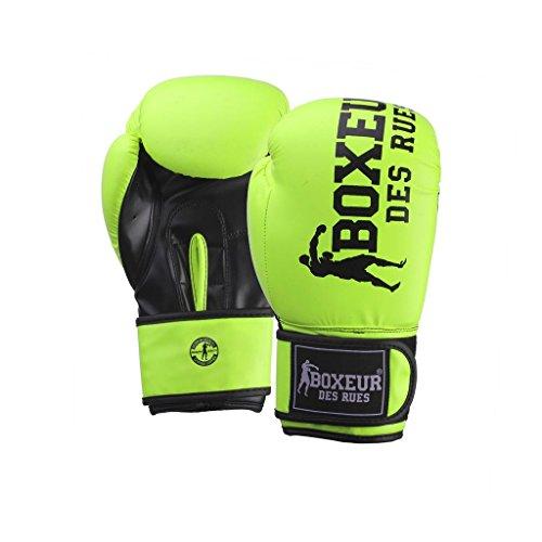 BOXEUR DES RUES Serie Fight Activewear, Guantoni da Boxe Unisex - Adulto, Giallo, 8 OZ
