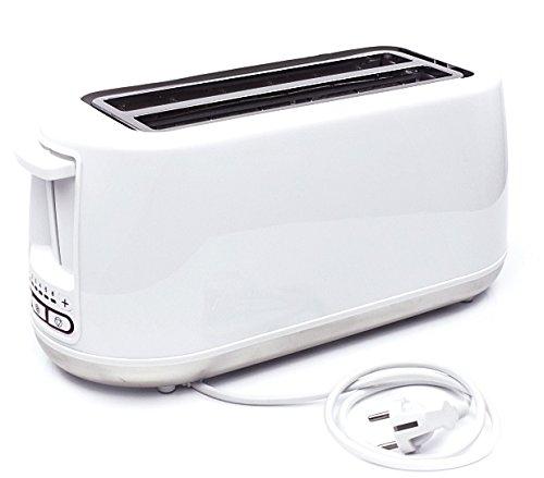 Tostapane dal design lussuoso con fessure lunghe per fino a 4 fette di toast.