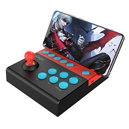 Mini Manette Arcade Stick, Joystick Fighting Stick in stile giochi arcade, Bluetooth senza fili Controller Joystick per iOS Cellulare Android, iPhone, iPad, Tablet, Smart TV