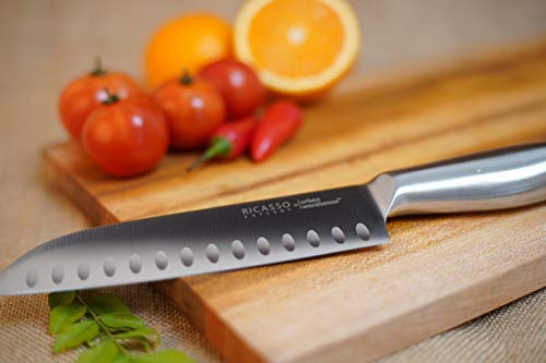Ricasso Cutlery UrbanWarehouse Japanese Santoku Style Stainless Steel Kitchen Knife, 12 inch