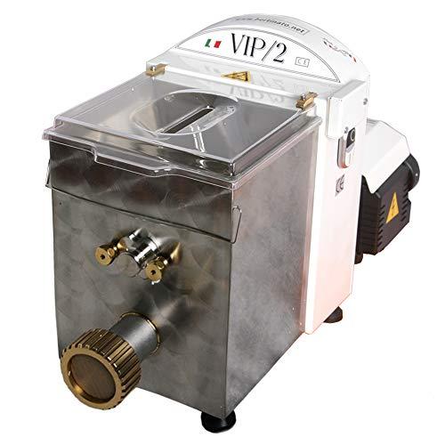 VIP/2 Macchina per la Pasta Fresca professionale elettrica, in acciaio inox, con 4 trafile in bronzo...