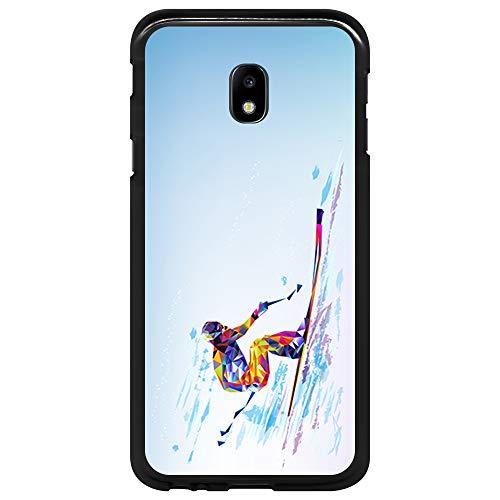BJJ SHOP Custodia Nera per [ Samsung Galaxy J3 2017 ], Cover in Silicone Flessibile TPU, Design:...
