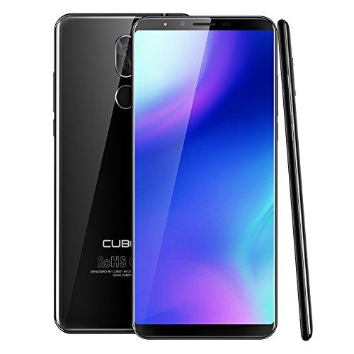 "CUBOT X18 Plus (2018) Teléfono Libre, 18:9/5.99"" Android 8.0 Dual Sim Teléfono Libre, Batería 4000 mAh, 4GB + 64GB, Dual Cámara, Octa-Core MT6750T, Negro"