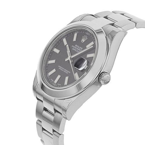 ROLEX DATEJUST II MEN'S STAINLESS STEEL CASE AUTOMATIC DATE UHR 116300BKSO - 3
